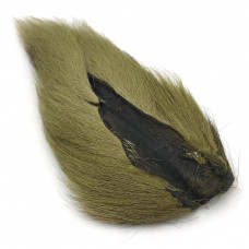 LARGE NORTHERN BUCKTAIL YELLOW OLIVE