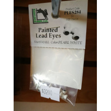 PAINTED LEAD EYES PEARL WHITE SMALL